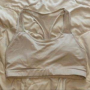 White SHEIN sports bra